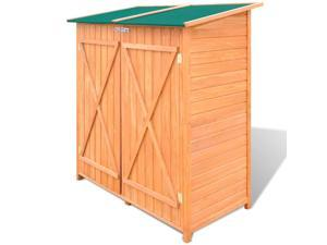 vidaXL Wooden Shed Garden Tool Storage Room Large