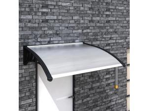 "vidaXL Door Canopy 47""x39"" PC Patio Awning Outdoor Polycarbonate Front Window"