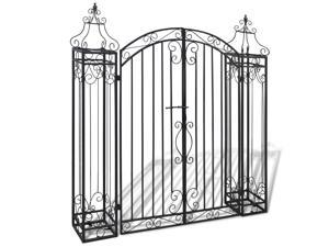 vidaXL Ornamental Garden Gate Wrought Iron 122x20,5x134 cm
