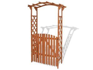 "vidaXL Garden Arch with Gate Solid Wood 47.2""x23.6""x80.7"""