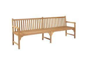 "vidaXL Outdoor Bench Solid Teak with Finish 94.5"" Patio Garden Seating Park"