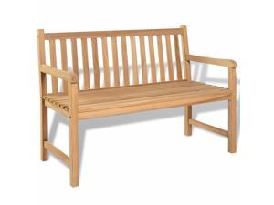"vidaXL Teak Outdoor Bench 47.2"" Patio Chair Backyard Seat Garden Furniture"