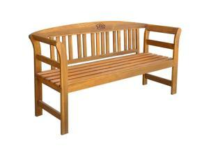 "vidaXL Garden Bench 61.8"" Solid Acacia Wood"