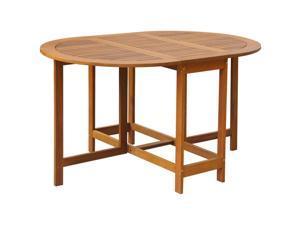 vidaXL Outdoor Oval Drop Leaf Table Acacia Wood
