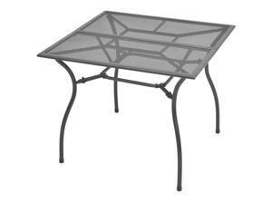 "vidaXL Outdoor Dining Table Steel Mesh 35.4""x35.4""x28.3"""