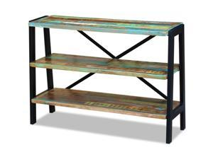 vidaXL Solid Reclaimed Wood Sideboard Side Console Table Nightstand 3 Shelves