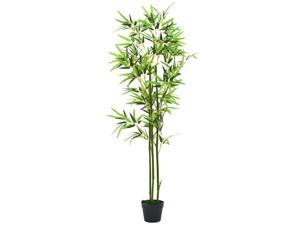 Vidaxl Artificial Bamboo Plant With Pot 68 9 Green Indoor Home Floral Decor Newegg Com
