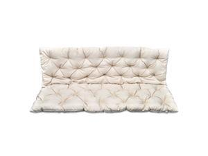 """vidaXL Replacement Cushion for Garden Swing Chair Seat and Backrest 59"""" Cream"""