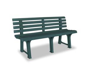 vidaXL Garden Bench Plastic Green Outdoor Bench Chair Garden Yard Furniture