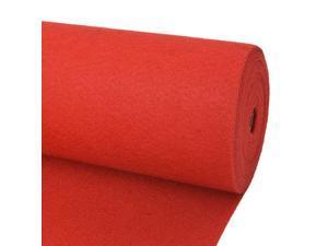 """vidaXL Exhibition Carpet Rib  39.4""""x472.4"""" Red Floor Covering Rib Carpets"""