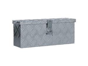 "vidaXL Aluminum Box 19.1""x5.5""x7.9"" Silver Toolbox Trailer Boxes Organiser"