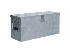 "vidaXL Aluminum Box 30.1""x10.4""x13"" Silver Toolbox Trailer Boxes Organiser"