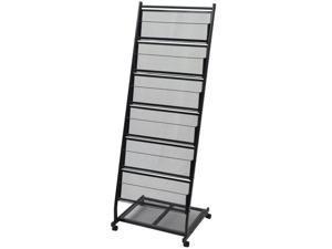 vidaXL Magazine Rack Black A4 Cabinet Storage Newspaper Rack Holder Furniture