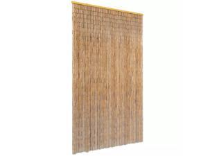 "vidaXL Insect Door Curtain Bamboo 47.2""x86.6"" Anti Mosquito Protector Screen"