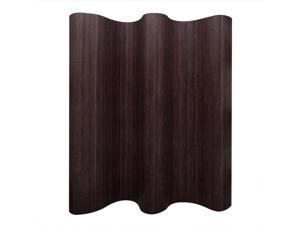 """vidaXL Room Divider Rollup Bamboo Brown 98.4"""" Space Partition Privacy Screen"""