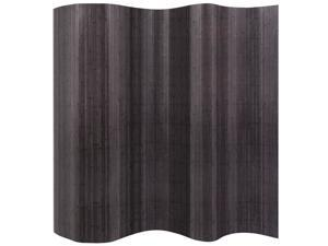 "vidaXL Room Divider Rollup Bamboo Grey 98.4"" Space Partition Privacy Screen"