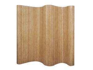 """vidaXL Room Divider Rollup Bamboo Natural 98.4"""" Space Partition Privacy Screen"""