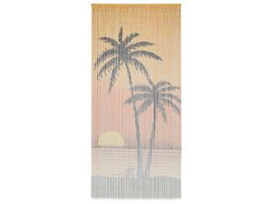 vidaXL Insect Door Curtain Bamboo Palm Tree Anti Mosquito Bug Fly Screen Net