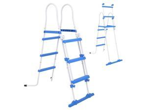 "vidaXL Above-Ground Pool Safety Ladder with 3 Steps 42.1"" Safety Swimming Pool"