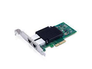 Compatible Intel X550-T2, 10GbE Converged Network Adapter(NIC), X550 Chipset, PCI-E X4, Dual RJ45 Copper Port CNA