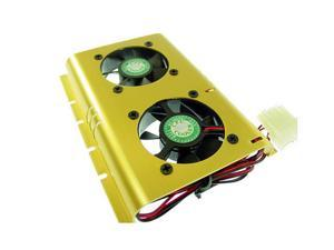 New  SHDC-B Dual 50mm Ball Bearing Fan Hard-Drive Cooler