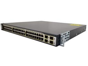 CISCO 3750G 48 Port PoE WS-C3750G-48PS-S 48 Ethernet 10/100/1000 Switch
