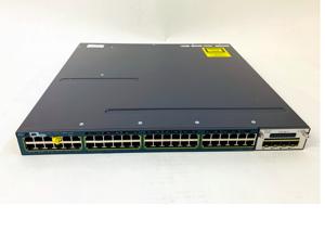 CISCO WS-C3560X-48P-S 48-Port Gigabt Layer 3 POE+ Switch C3KX-NM-10G 3560X-48P-S