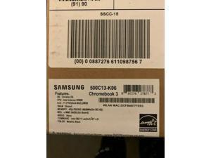 "SAMSUNG Chromebook 3 XE500C13-K06US Chromebook Intel Celeron N3060 (1.60 GHz) 4 GB Memory 64 GB eMMC SSD 11.6"" Chrome OS"
