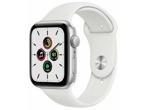 Apple Watch Series 6 44mm Silver Aluminum Case with White Sport Band GPS M00D3LL/A A2292