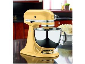Limited Time KitchenAid Artisan Series 5 Quart Tilt-Head Stand Mixer with matching Precise Heat Mixing Bowl - (Majestic Yellow)