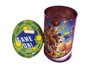 """Toy Story Round Tin Coin Bank - """"Game On!"""""""