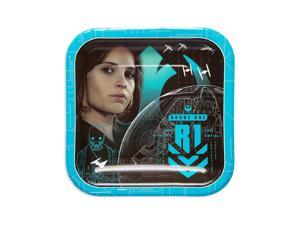 American Greetings Star Wars Rogue 1 Paper Dessert Plates, 8-Count