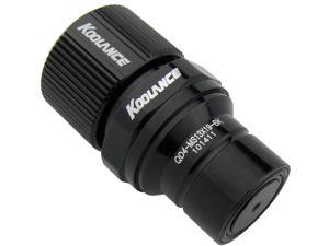 Koolance QD4-MS13X19-BK QD4 Male Quick Disconnect No-Spill Coupling, Compression for 13mm x 19mm (1/2in x 3/4in)Black