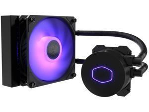Cooler Master MasterLiquid ML120L RGB V2, Close-Loop AIO CPU Liquid Cooler, 3rd Gen Dual Chamber Pump, 240 Radiator, SickleFlow 120mm for AMD Ryzen/Intel 1151 (MLW-D12M-A18PC-R2)
