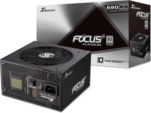 Seasonic FOCUS Plus 550 Platinum SSR-550PX 550W 80+ Platinum ATX12V & EPS12V Full Modular 120mm FDB Fan 10 Year Warranty Compact 140 mm Size Power Supply