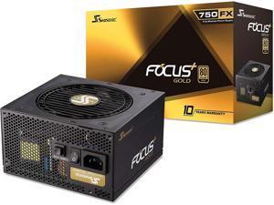 Seasonic FOCUS Plus 750 Gold SSR-750FX 750W 80+ Gold ATX12V & EPS12V Full Modular 120mm FDB Fan 10 Year Warranty Compact 140 mm Size Power Supply