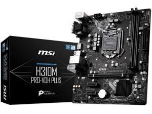 MSI PRO H310M PRO-VDH PLUS LGA 1151 (300 Series) Intel H310 SATA 6Gb/s Micro ATX Intel Motherboard
