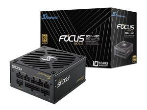 Seasonic Focus SGX-450 450W 80+ Gold SFX 12 V/ATX 12 V Full Modular Compact 125 mm Size Power Supply w/120mm FDB Fan 10 Year Warranty SSR-450SGX