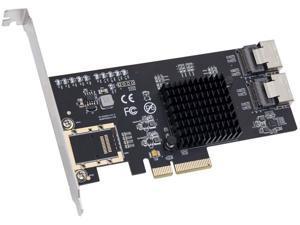 Syba 8 Port SATA III Non-RAID PCI-e x4 Expansion Card Supports FreeNAS and ZFS RAID - Includes Mini SAS to SATA Breack Out Cables (SI-PEX40137)