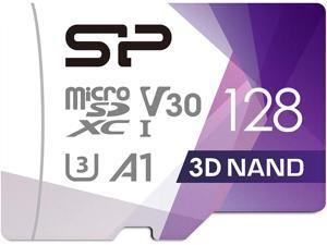 Silicon Power 128GB Micro SD Card U3 Nintendo-Switch Compatible, SDXC microsdxc High Speed Class 10 MicroSD Memory Card with Adapter (SP128GBSTXDU3V20AB)