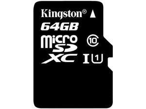 Professional Kingston 64GB BlackBerry KEY2 MicroSDXC Card with Custom formatting and Standard SD Adapter! (Class 10, UHS-I)