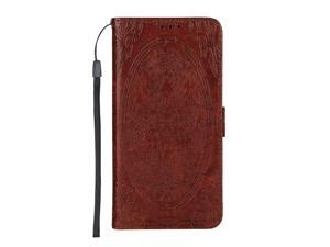 iPhone 6 Plus / 6s Plus Case, CUSKING Slim Leather Wallet Case [Dragon Embossed Design] with Card Holder, Magnet Flip Cover with Silicone TPU Case for Apple iPhone 6 Plus / 6s Plus - Red-Brown
