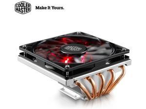 Cooler Master GeminII M5 LED - 2U Low Profile CPU Cooler with 5 Direct Contact Heatpipes & XtraFlo 120 Slim Fire Red LED PWM Cooling Fan for Intel AMD RR-T520-16PK (GeminII M5)