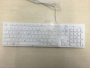 Leze - Ultra Thin Keyboard Cover Compatible with Dell KM636 & KB216 Keyboard & Dell Optiplex 5250 3050 3240 5460 7450 7050 & Dell Inspiron AIO 3475/3670/3477 All-in one Desktop - White Black