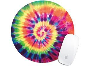 Royal Up Mouse Pad Print Colorful Bright Tie-Dye Custom Mouse Pad Office Desktop or Gaming Mouse Mat Keyboard Pad Waterproof Material Non-Slip Personalized Round Mouse pad(7.87&times7.87)