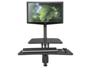 BALT 90530 Up-Rite Desk Mounted Sit-Stand Workstation Single 27 1/8 x 30 x 42 Dark Gray