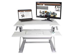 "Victor DCX710W Height Adjustable Standing Desk | White | 31"" Wide 