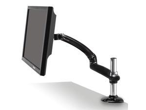 "Ergotech Freedom Arm, Single Aluminum Monitor Arm, holds up to 27"" Monitor with Desk Clamp - Metal Gray"