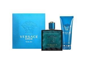 Versace Eros Eau De Toilette Spray- Shower Gel 2 PC Set For Men