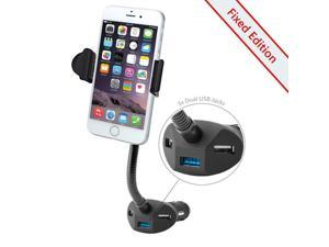 Car Mount, Beepels Family Universal Car Charger 3 USB Ports and Cell Phone Holder For Car, Fits IPhone 6S, 6, 5, Galaxy S7, S6, S5, - Family Car Charger Mount?